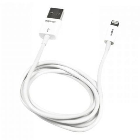 Approx (APPC03V2) Lightning Cable, Data/Charge, USB 2.0, White, Not Apple Certified